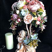 """Цветы и флористика ручной работы. Ярмарка Мастеров - ручная работа Топиарий """" Древо ангела"""". Handmade."""