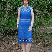 """Одежда ручной работы. Ярмарка Мастеров - ручная работа Авторское кружевное платье """"Самое синее в мире ..."""". Handmade."""
