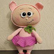 Мягкие игрушки ручной работы. Ярмарка Мастеров - ручная работа Бонни в костюме свинки. Handmade.