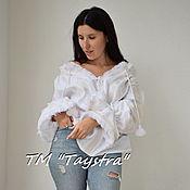 Одежда ручной работы. Ярмарка Мастеров - ручная работа Вышиванка лен, этно, стиль бохо шик, блузка с вышивкой. Handmade.