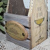 Для дома и интерьера ручной работы. Ярмарка Мастеров - ручная работа Домик для бутылки. Handmade.