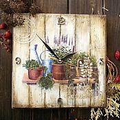 """Для дома и интерьера ручной работы. Ярмарка Мастеров - ручная работа Часы """"Пряные травы. Лаванда."""". Handmade."""