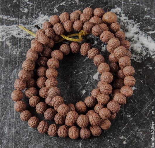 Для украшений ручной работы. Ярмарка Мастеров - ручная работа. Купить Тибетские бусины из семян бодхи Глаз Феникса, 8 мм. Handmade.