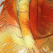 """Аксессуары ручной работы. Ярмарка Мастеров - ручная работа Шарф - бактус  """"Листопад"""". Handmade."""