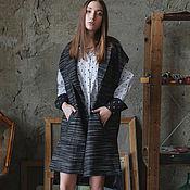 """Одежда ручной работы. Ярмарка Мастеров - ручная работа Пальтовый жилет """"Black"""". Handmade."""