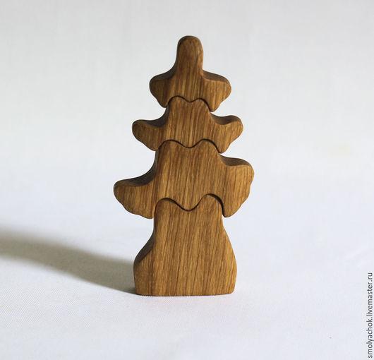 Развивающие игрушки ручной работы. Ярмарка Мастеров - ручная работа. Купить Дерево Ель нецветное. Деревянная развивающая игрушка.. Handmade.