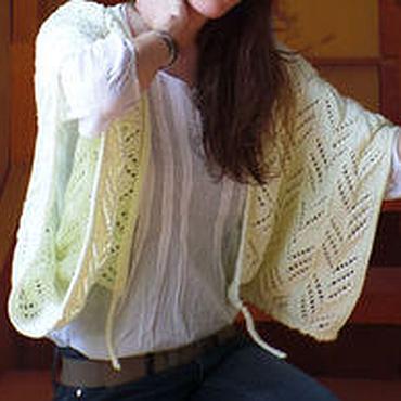 Одежда ручной работы. Ярмарка Мастеров - ручная работа Вязаный жакет женский бледно-желтого цвета. Handmade.