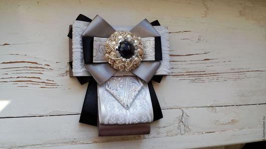 Броши ручной работы. Ярмарка Мастеров - ручная работа. Купить Брошь-галстук. Handmade. Серебряный, брошь ручной работы, украшение