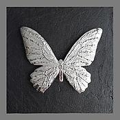 Картины и панно handmade. Livemaster - original item Butterfly platinum on a black background. Handmade.