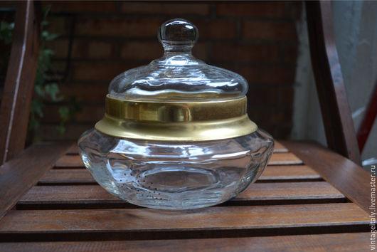 Винтажная посуда. Ярмарка Мастеров - ручная работа. Купить Конфетница стеклянная, ваза с крышкой.. Handmade. Белый, ваза декоративная