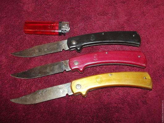 Винтажная посуда. Ярмарка Мастеров - ручная работа. Купить Набор ножей СССР для грибов. Handmade. Ярко-красный, сталь