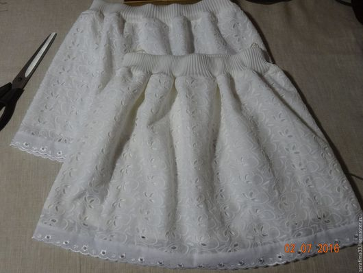 Одежда для девочек, ручной работы. Ярмарка Мастеров - ручная работа. Купить Юбки для девочек - эконом класса.. Handmade. Белый