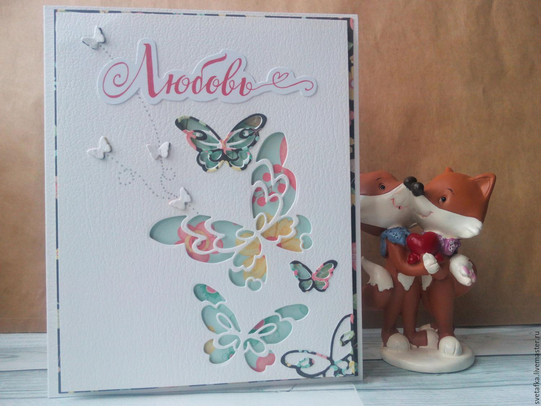Cards to Other Holidays handmade. Livemaster - handmade. Buy The handmade card.14 Feb.Love Spring-Fox series 1.