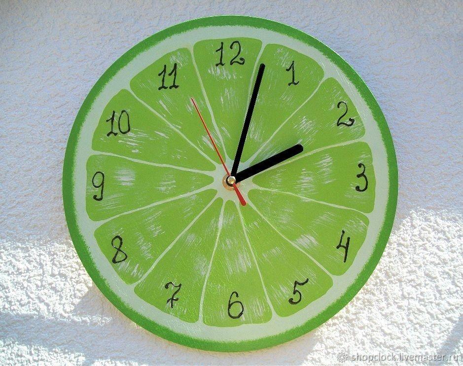 Kitchen wall clock lime Citrus, Watch, Novosibirsk,  Фото №1