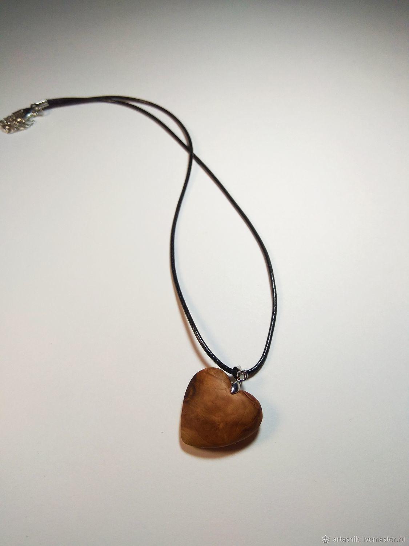 кулон сердце из дерева, Подвеска, Таганрог,  Фото №1