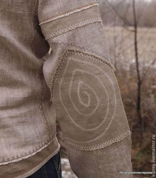 """Этническая одежда ручной работы. Ярмарка Мастеров - ручная работа. Купить Рубаха мужская льняная """"Славянин"""" в народном стиле. Handmade."""