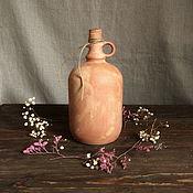 """Decanters handmade. Livemaster - original item Керамическая бутыль для вина, """"Старинная"""", 1,5л. Handmade."""