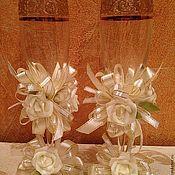 Свадебный салон ручной работы. Ярмарка Мастеров - ручная работа Свадебные бокалы ЦЕНА СНИЖЕНА. Handmade.