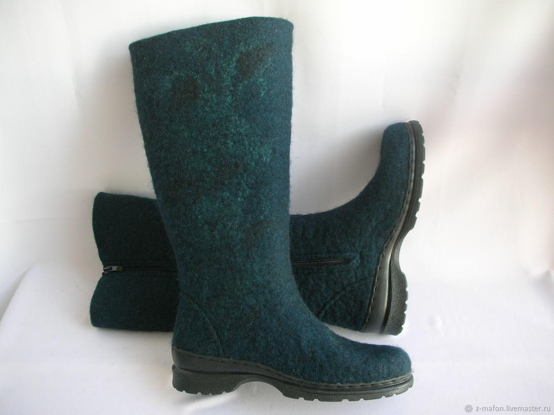 Valenki boots with a lock zipper Depth, Felt boots, Tomsk,  Фото №1