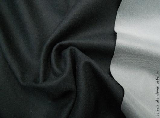 Шитье ручной работы. Ярмарка Мастеров - ручная работа. Купить Ткань кашемир пальтовый. Handmade. Черный, кашемир 100%, ткань