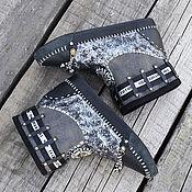 """Сапоги ручной работы. Ярмарка Мастеров - ручная работа Сапожки-мокасины """"Черное серебро"""". Handmade."""