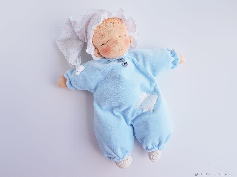 Вальдорфская кукла, кукла-сплюшка, тряпичная кукла, пупс 30 см, Вальдорфские куклы и звери, Ростов-на-Дону,  Фото №1
