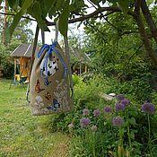 Сумки и аксессуары ручной работы. Ярмарка Мастеров - ручная работа Очаровательный  летний рюкзак с бабочками. Handmade.