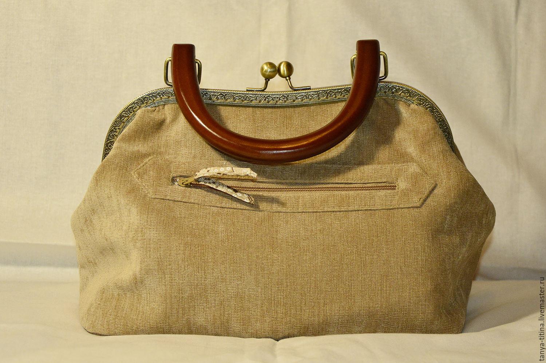 Изготовление сумки с фермуаром, который крепится