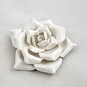 Для дома и интерьера handmade. Livemaster - original item White ceramic rose for the interior. Handmade.