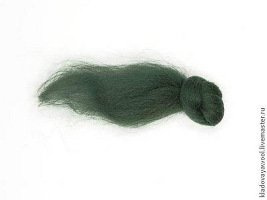 Валяние ручной работы. Ярмарка Мастеров - ручная работа. Купить Меринос18мкр цв.Темно-зеленый. Handmade. Тёмно-зелёный