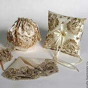 Свадебный салон handmade. Livemaster - original item Accessories for bride from French Chantilly lace. Handmade.