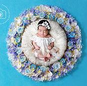 Работы для детей, ручной работы. Ярмарка Мастеров - ручная работа Цветочное гнездо для фотосессий новорожденных. Handmade.
