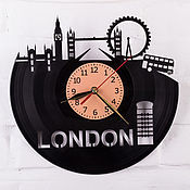 Для дома и интерьера ручной работы. Ярмарка Мастеров - ручная работа Лондон, фото, достопримечательности. Часы из пластинки. Handmade.