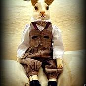 Куклы и игрушки ручной работы. Ярмарка Мастеров - ручная работа Кролик Бруно (холодный фарфор FLUMO). Ручная работа. Handmade.