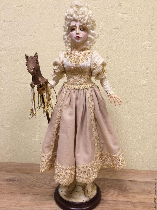 Коллекционные куклы ручной работы. Ярмарка Мастеров - ручная работа. Купить Белая королева. Handmade. Бежевый, подарок, ленты атласные