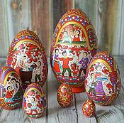 Русский стиль ручной работы. Ярмарка Мастеров - ручная работа Яйцо-матрешка 7-местное. Handmade.