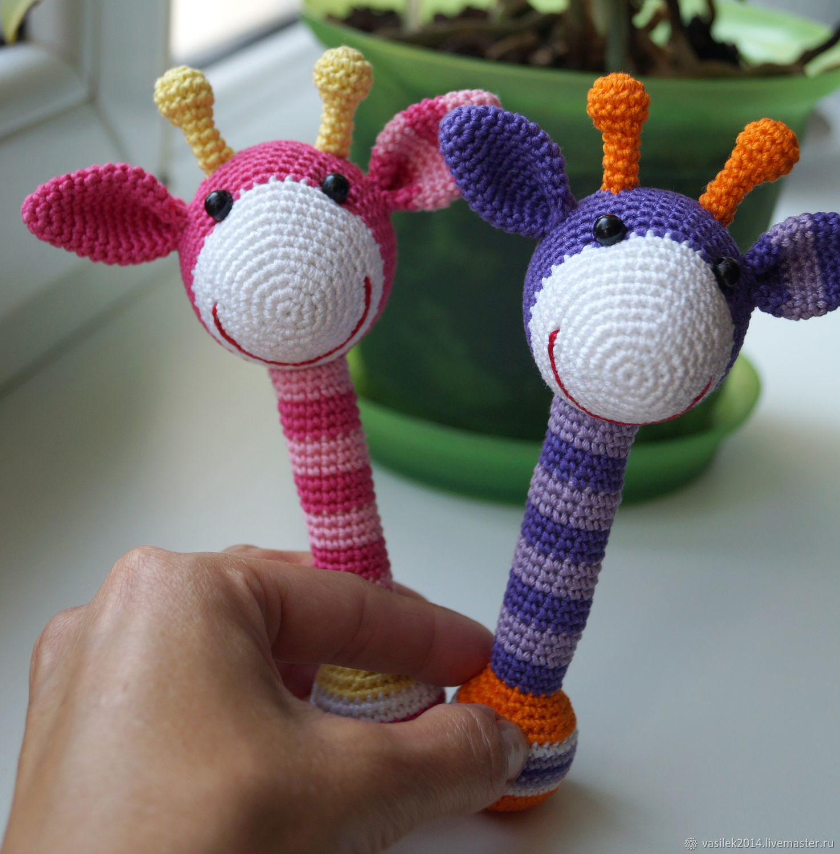 Погремушки вязаные, Развивающие игрушки, Ижевск, Фото №1