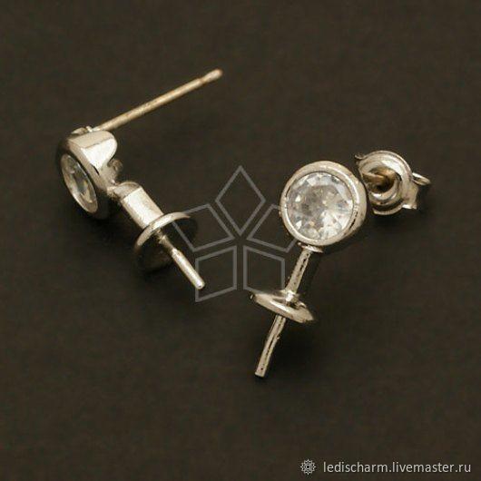 Shvenzy for earrings under semi-drilled pearls (briolet), Schwenzy, Samara,  Фото №1