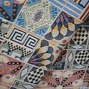 Ткани ручной работы. Ярмарка Мастеров - ручная работа Покрывало гобеленовое-майолика. Handmade.
