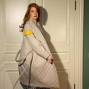 Одежда ручной работы. Ярмарка Мастеров - ручная работа Пальто-фуфака бежевое. Handmade.