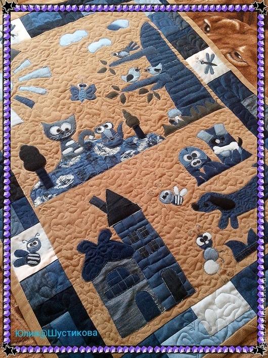 Текстиль, ковры ручной работы. Ярмарка Мастеров - ручная работа. Купить Коврик с джинсовой аппликацией. Handmade. Коврик, для девочки