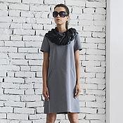Одежда handmade. Livemaster - original item Grey Short Casual Dress. Handmade.