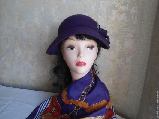 """Шляпы ручной работы. Ярмарка Мастеров - ручная работа. Купить Шляпа из фетра """"Фиолетовая мечта"""". Handmade. Шляпка женская"""