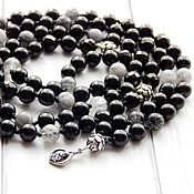 Фен-шуй и эзотерика handmade. Livemaster - original item Black Lotus rosary made of jet with silver. Handmade.