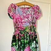 Одежда ручной работы. Ярмарка Мастеров - ручная работа Платье Весна в Версале Хлопок 100%. Handmade.