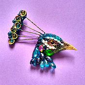 Украшения handmade. Livemaster - original item Head of a peacock. Handmade.
