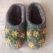 """Обувь ручной работы. Ярмарка Мастеров - ручная работа валяные тапочки """"Весна"""". Handmade."""