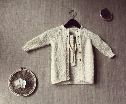 """Одежда для девочек, ручной работы. Ярмарка Мастеров - ручная работа. Купить Кардиган детский """"ГРЕНЛАНДИЯ"""". Handmade. Кардиган, ХЛОПОК 20%"""