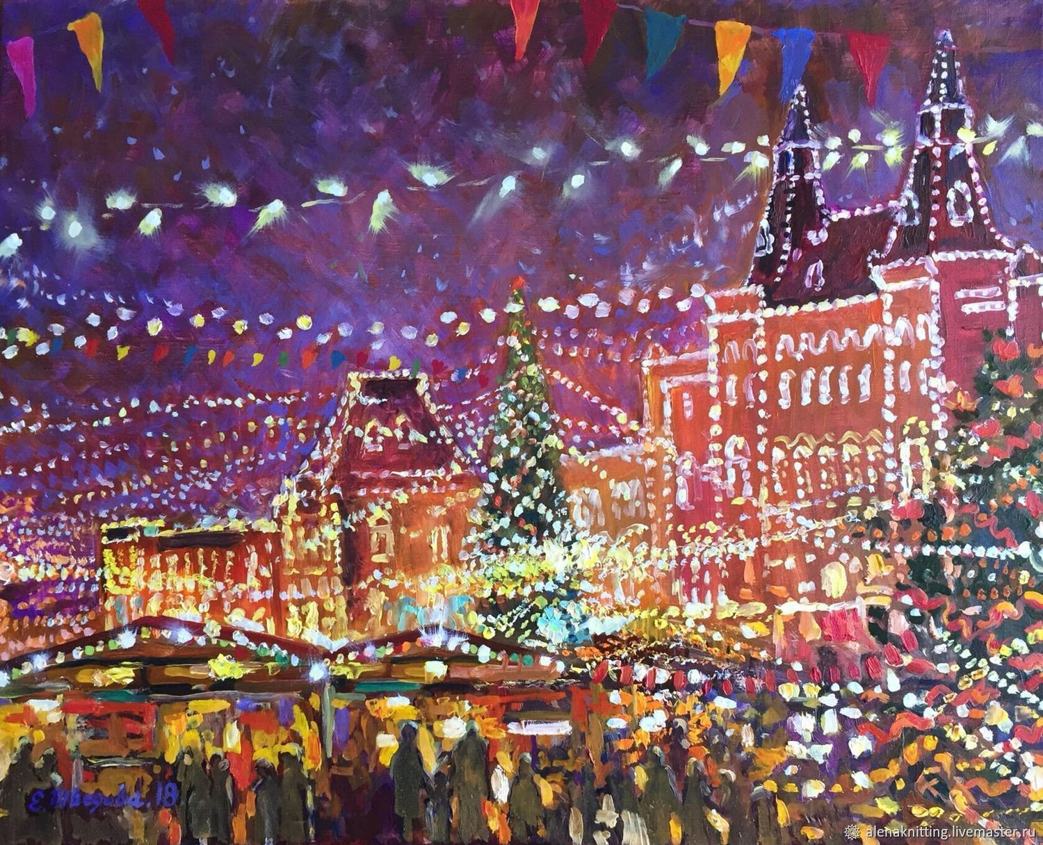 Oil painting 'Fair on the red square', Pictures, Moscow,  Фото №1