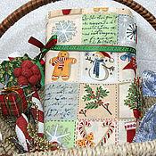 Материалы для творчества ручной работы. Ярмарка Мастеров - ручная работа Новогодняя  ткань лоскутки. Handmade.